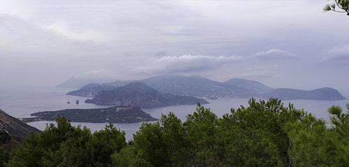 Eolische Eilanden Panorama van