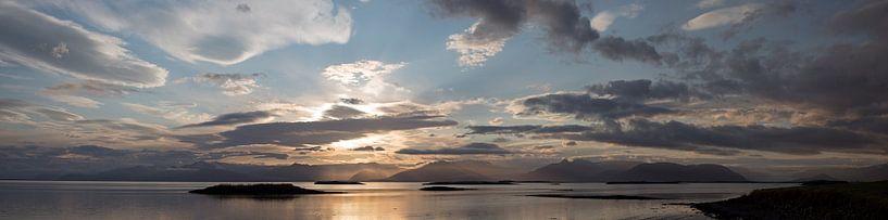 Panaorama van uitzicht op Vatnajokull van Menno Schaefer