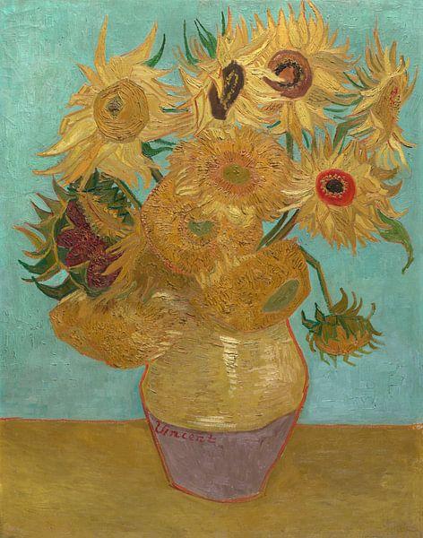 Zwölf Sonnenblumen - Vincent van Gogh von 1000 Schilderijen
