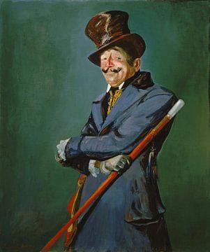 Otis Skinner dans le rôle du colonel Philippe Bridau, George Luks sur