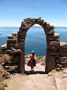 'brei-mannen' eiland Taquile van