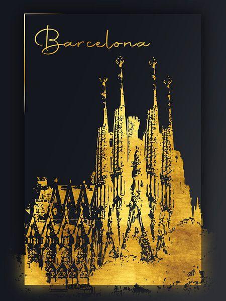 Barcelona von Printed Artings