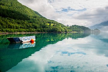 Boot auf einem See in Norwegen von Ellis Peeters