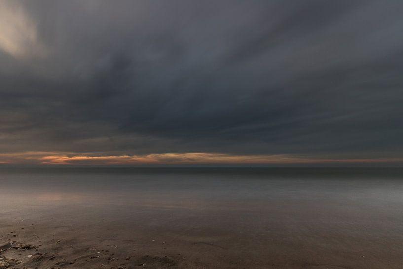 sunset at Ostend (Belgium) van Koen Ceusters