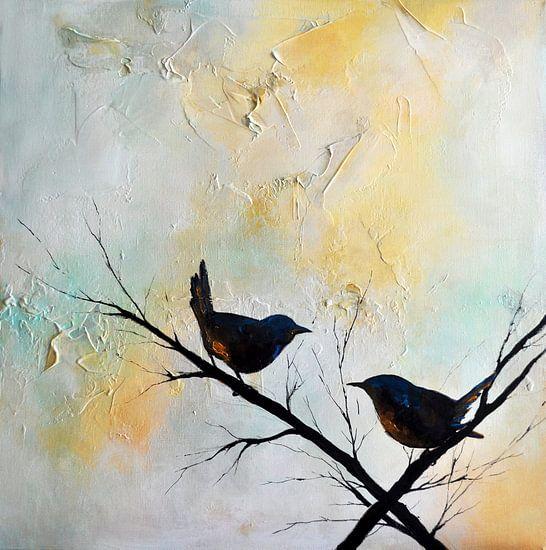 Birds in the Garden 6 van Maria Kitano