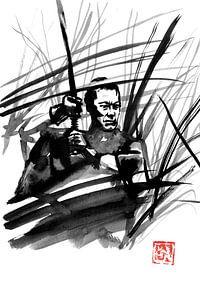 Samurai im Gras von philippe imbert