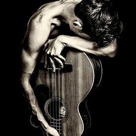 fotoposter of  wanddecoratie gitaar man van Edwin Hunter