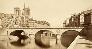 Nouveau pont Saint-Michel, Auguste Hippolyte Collard  - 1859