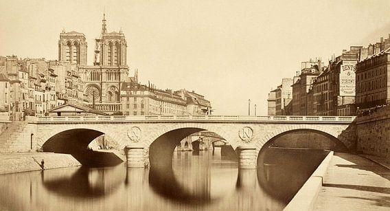 Nouveau pont Saint-Michel, Auguste Hippolyte Collard  - 1859 van Het Archief