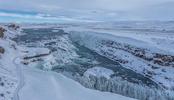 Gullfoss waterfall - IJsland