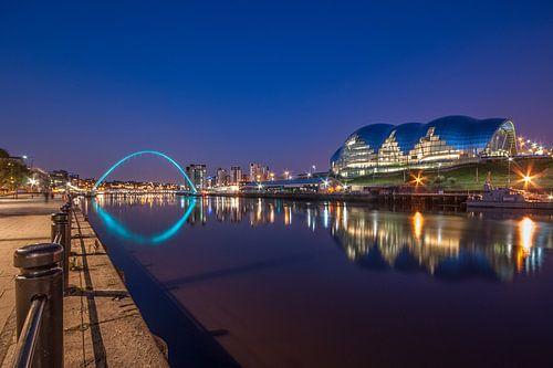 Newcastle by Night von Bert Beckers