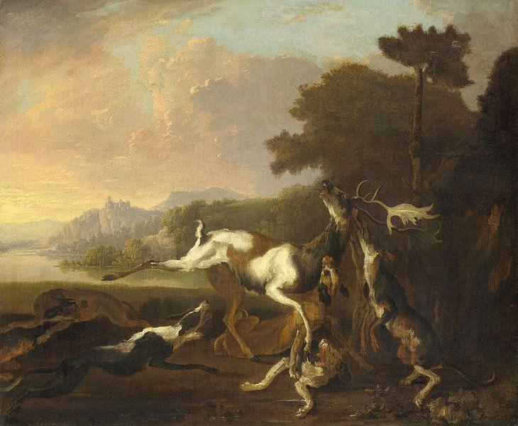 De hertenjacht, Abraham Daniëlsz. Hondius
