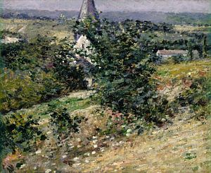 Oude kerk in Giverny, Theodore Robinson...