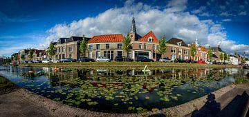Oude gracht Weesp panorama waterlelies sur Joris van Kesteren