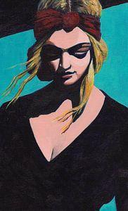 Girl In Black - Detail van Lucienne van Leijen