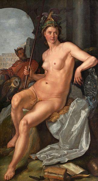Minerva, Hendrik Goltzius. von Meesterlijcke Meesters