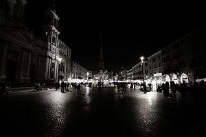 Piazza Navona (Rome) bij nacht van
