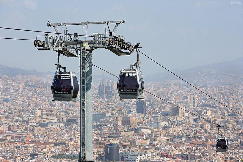 [barcelona] - ... high above the rooftops (no.2) von Meleah Fotografie