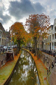 Herfst langs de Nieuwe Gracht Utrecht van Menno Bausch