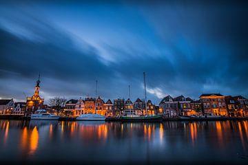 Zonsondergang over Alkmaar, Accijnstoren en Bierkade 02 sur Arjen Schippers