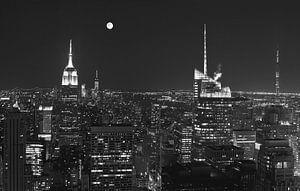 New York vanaf Top of the Rock  in  zwart-wit van