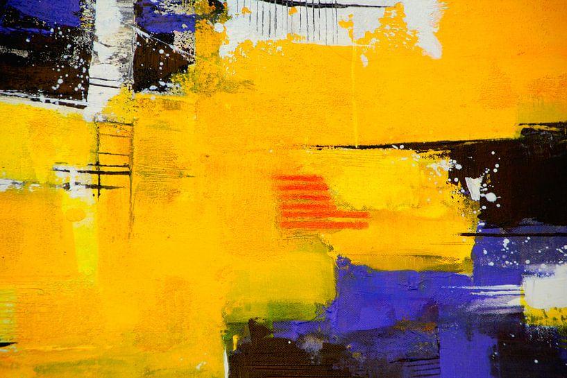 Abstrakt Nr.29 Sonnengelb von Claudia Neubauer