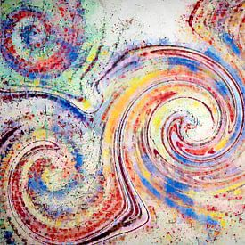 Vrolijke abstractie van Francis Dost