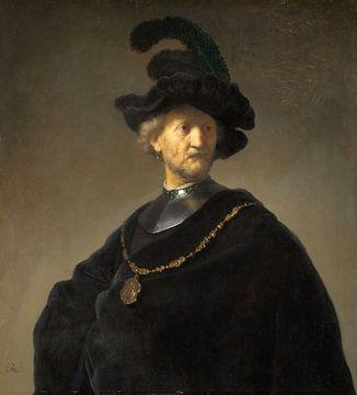 Oude man met een gouden ketting, Rembrandt