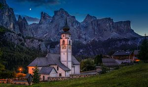 Italië - Dolomieten - kerk van Colfosco