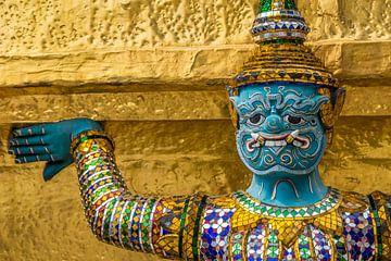 Thailand Grand Palace beeld drager sur Edwin Mooijaart