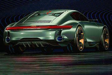 Porsche Cyber 6, sportauto. Concept car van Gert Hilbink