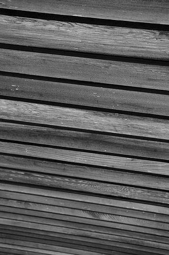 Lijnen van een overkapping in zwart-wit