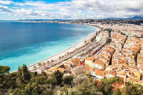 Uitzicht op Nice aan de Côte d'Azur