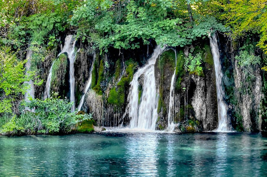 Plitvice Waterfall van BL Photography