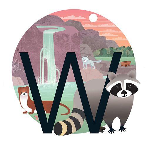 W: De wasbeer en de waterval