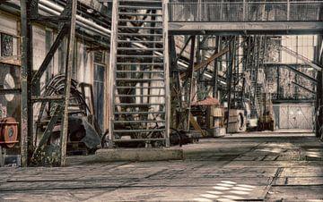 Oude fabriek IV van Yvonne Smits