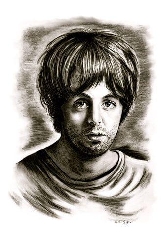Paul McCartney In Black And White van