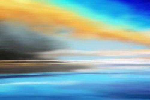 Zeegezicht schilderij van Jan Brons