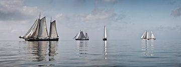 Segelregatta alter Segelboote von Frans Lemmens