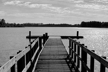 Steiger boven een meer van Cora Unk