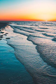 Breezand zonsondergang sur Andy Troy