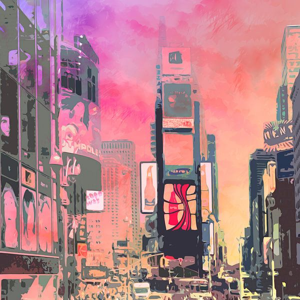 City-Art Ny Times Square van Melanie Viola
