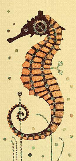 Seepferdchen 2 van Iwona Sdunek alias ANOWI