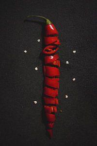 Red hot chilli pepper van Chantal Elsinga