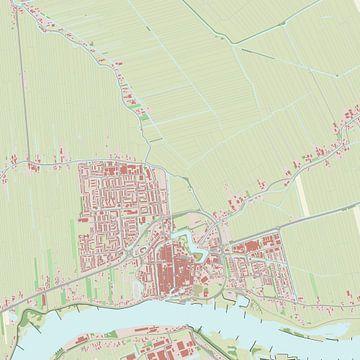 Kaart vanSchoonhoven van