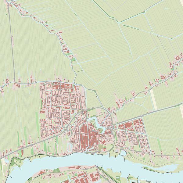 Kaart vanSchoonhoven van Rebel Ontwerp