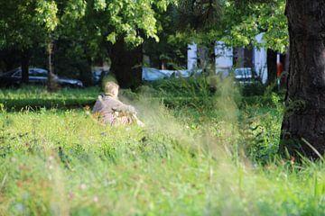 Eenzaam in het park van Erik Koks