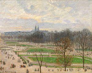 De tuin van de Tuileries op een Middag van de winter, Camille Pissarro