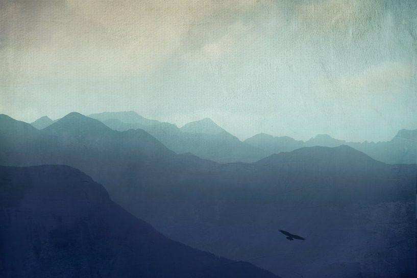 Mountain haze - Swiss Alps van Dirk Wüstenhagen