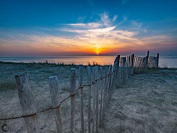 maasvlakte sunset van Chris van Es